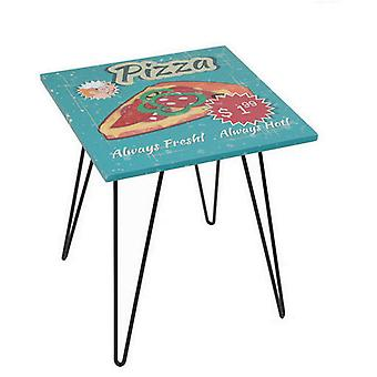 BigBuy Square pizza table (möbler, vardagsrum, sidobord)