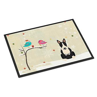 Christmas Presents between Friends Bull Terrier Black White Indoor or Outdoor Ma