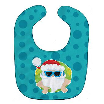 Carolines Treasures  BB9068BIB Beach Santa Claus Baby Bib