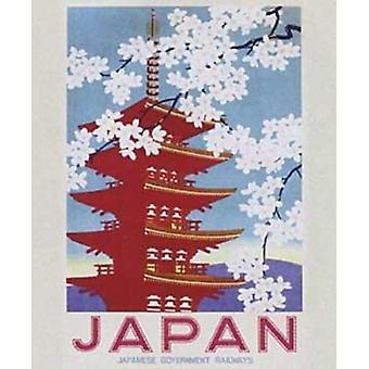 Japan - bloeit Poster Poster afdrukken