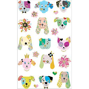 Mrs. Grossman's Stickers-Dogs Frilly Faces MG199-46895