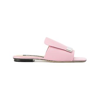 Sergio Rossi women's A80380MNAN075850 pink leather sandals