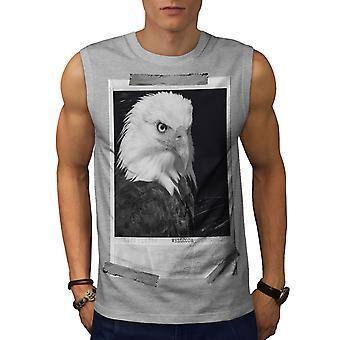 Bald Eagle Men GreySleeveless T-shirt | Wellcoda