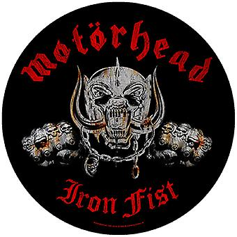 Motorhead Back Patch Iron Fist band logo Official New Circular (28cm)