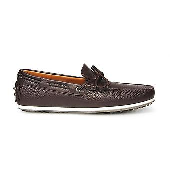 Triver flight mens 98021 brown leather moccasins