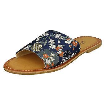 Damer Savannah mønstrede muldyr sandaler F00095