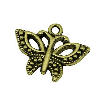 10 x Steampunk Antique Bronze Tibetan 19mm Butterfly Charm/Pendant ZX11395
