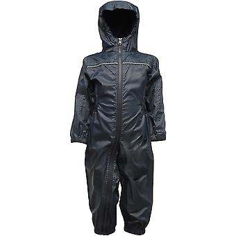 Regatta Kids Paddle Waterproof Breathable Rain Suit TRW466 Navy