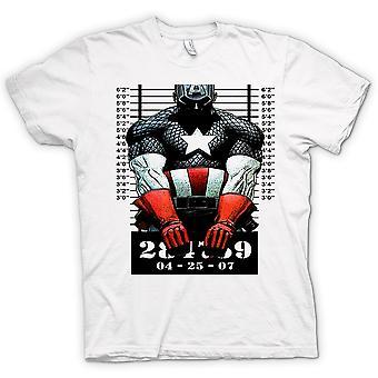 Womens T-shirt - Captain America - Cartoon - Mug Shot