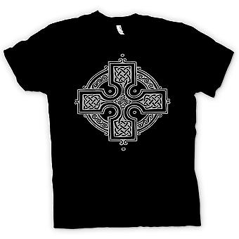 Womens T-shirt - Celtic Cross 2 - Tattoo Design