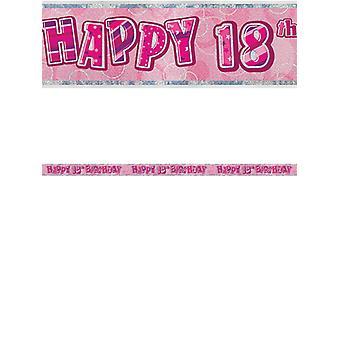 Verjaardag Glitz roze 18thverjaardag Prism Banner
