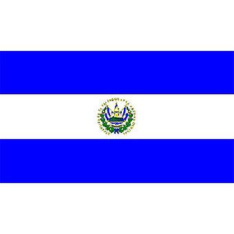 El Salvadors flagg 5 ft x 3 ft med hull For hengende