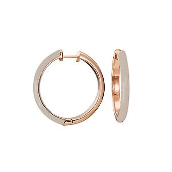 ESPRIT women's earrings Creole stainless steel Rosé Fancy beige ESCO11656I000