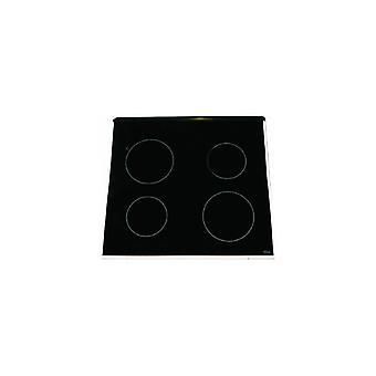Indesit verre table de cuisson vitrocéramique avec garniture blanche