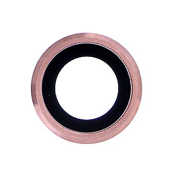 Rose Gold Rear Camera Holder with Lens For iPhone 6 Plus - 6S Plus