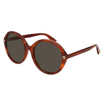 Gucci Brown Round Ladies Sunglasses - GG0023SA-005