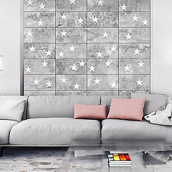 Tapet - stjerner på beton