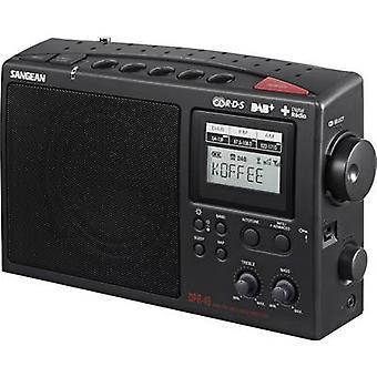 Sangean DPR-45 DAB + przenośne radio DAB +, AM, FM czarny
