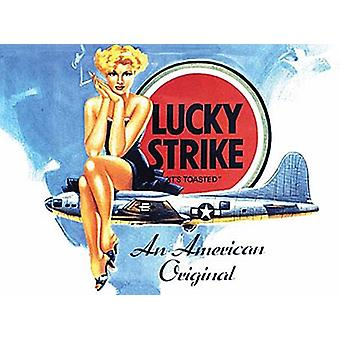 Lucky Strike Cigarettes Small Metal Sign 200Mm X 150Mm