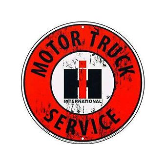 International Harvester Motor Truck Service Metal Sign