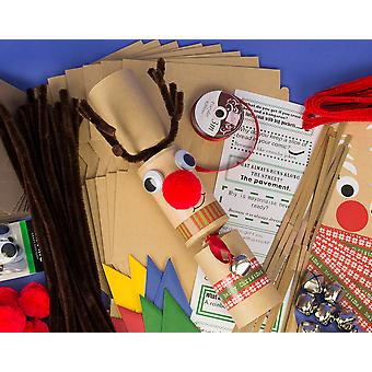 8 Krafty Jingly Wobbly Standy Uppy Rudolph Reindeer Christmas Crackers Kit