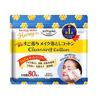 Kose Softymo make-up verwijderen katoen honing milde 80 stuks