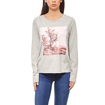 Aniston simple women's sweater with sequined gray