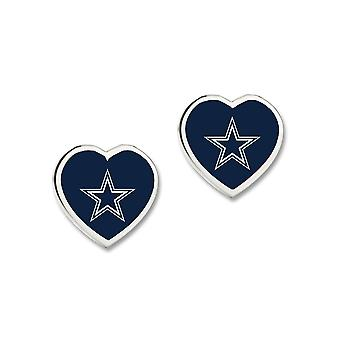 Wincraft ladies 3D heart Stud Earrings - NFL Dallas Cowboys