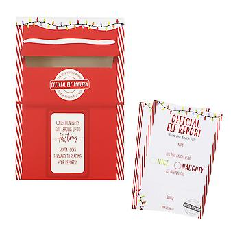 Christmas Elf Report Cards & Post Box Elf Idea Set