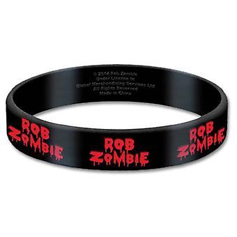 Rob Zombie Wristband Logo new Official Gummy Black 17mm
