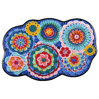 Salon lion door mat crochet shape washable dirt mat