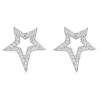 Latelita 925 Sterling Silver Earrings Star Stud Rosegold Gold CZ Sparkly Small