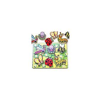 Simplesmente para crianças 56437 inseto de madeira Puzzle