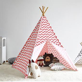 Modern Home Kinder Oxford Tipi Set mit Reise-Etui - rosa Chevron