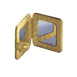 Gedy Marrakech Compact Beauty Mirror Gold 6760 87