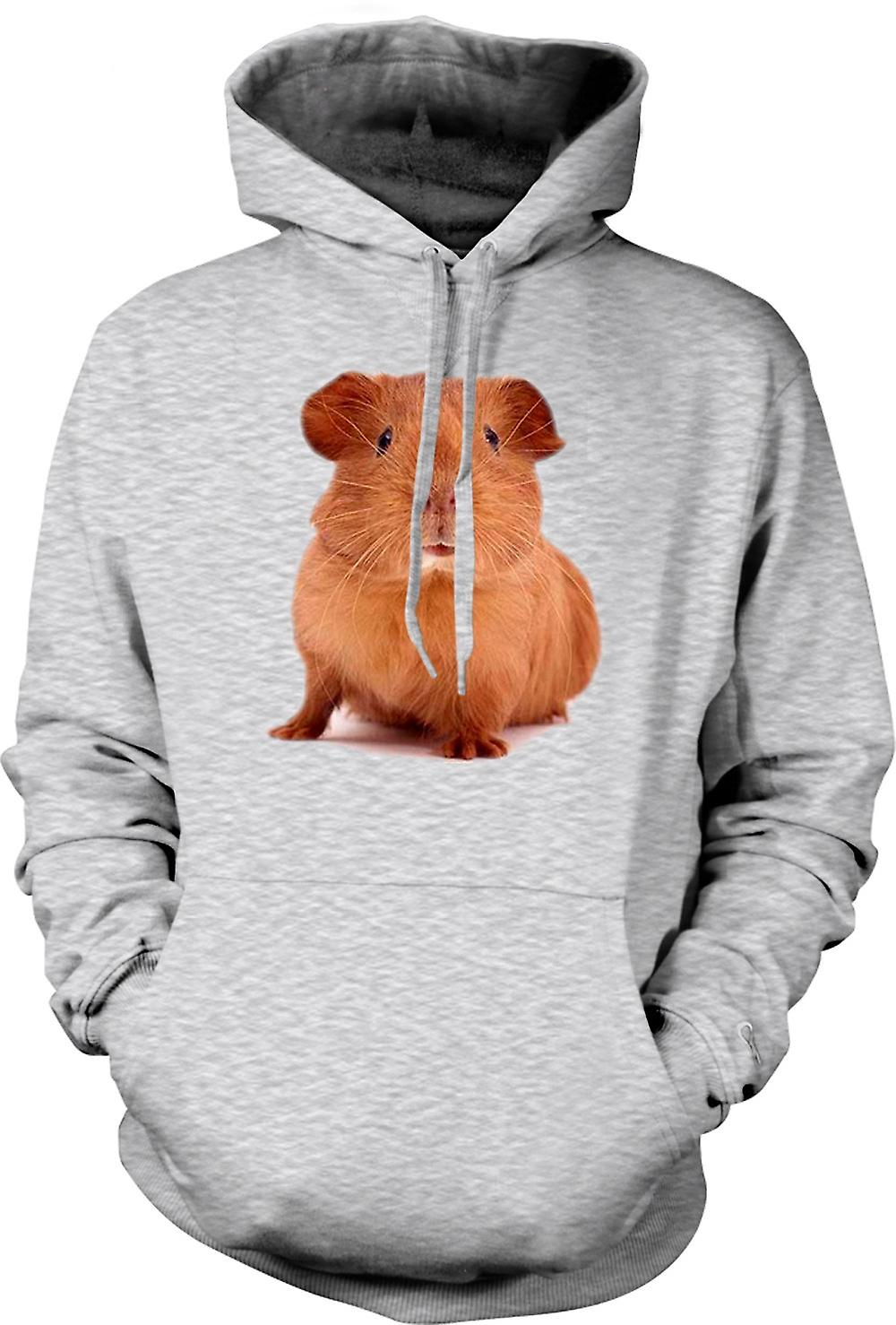 Mens Hoodie - Guinea Pig Brown - Cute Pet