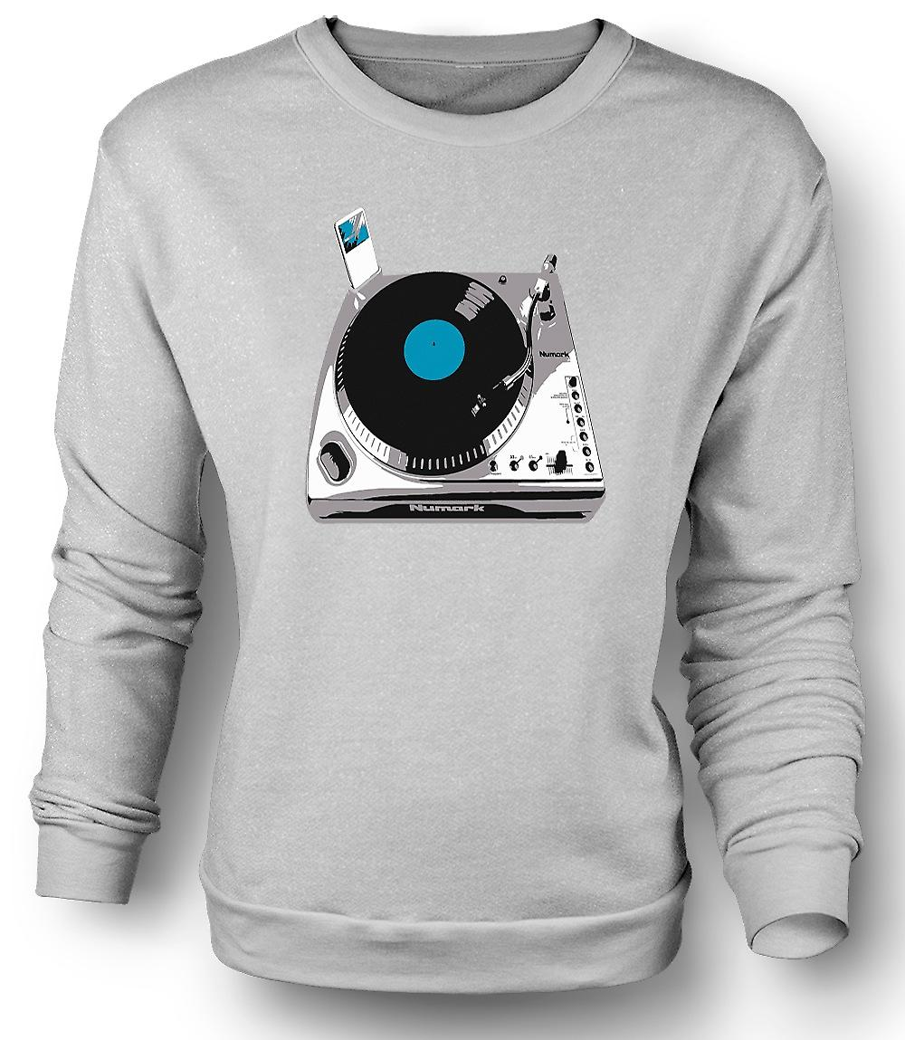 Mens Sweatshirt DJ iPod dekk