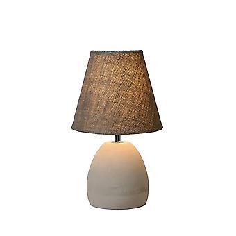Lámpara de mesa Lucide Solo Retro redondo hormigón Taupe y gris