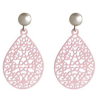 Gemshine damer mandala høykvalitets gull belagt øredobber Yoga nedgang i sølv eller steg - rosa - pulver steg øredobber - rosa - kvalitet smykker laget i Spania