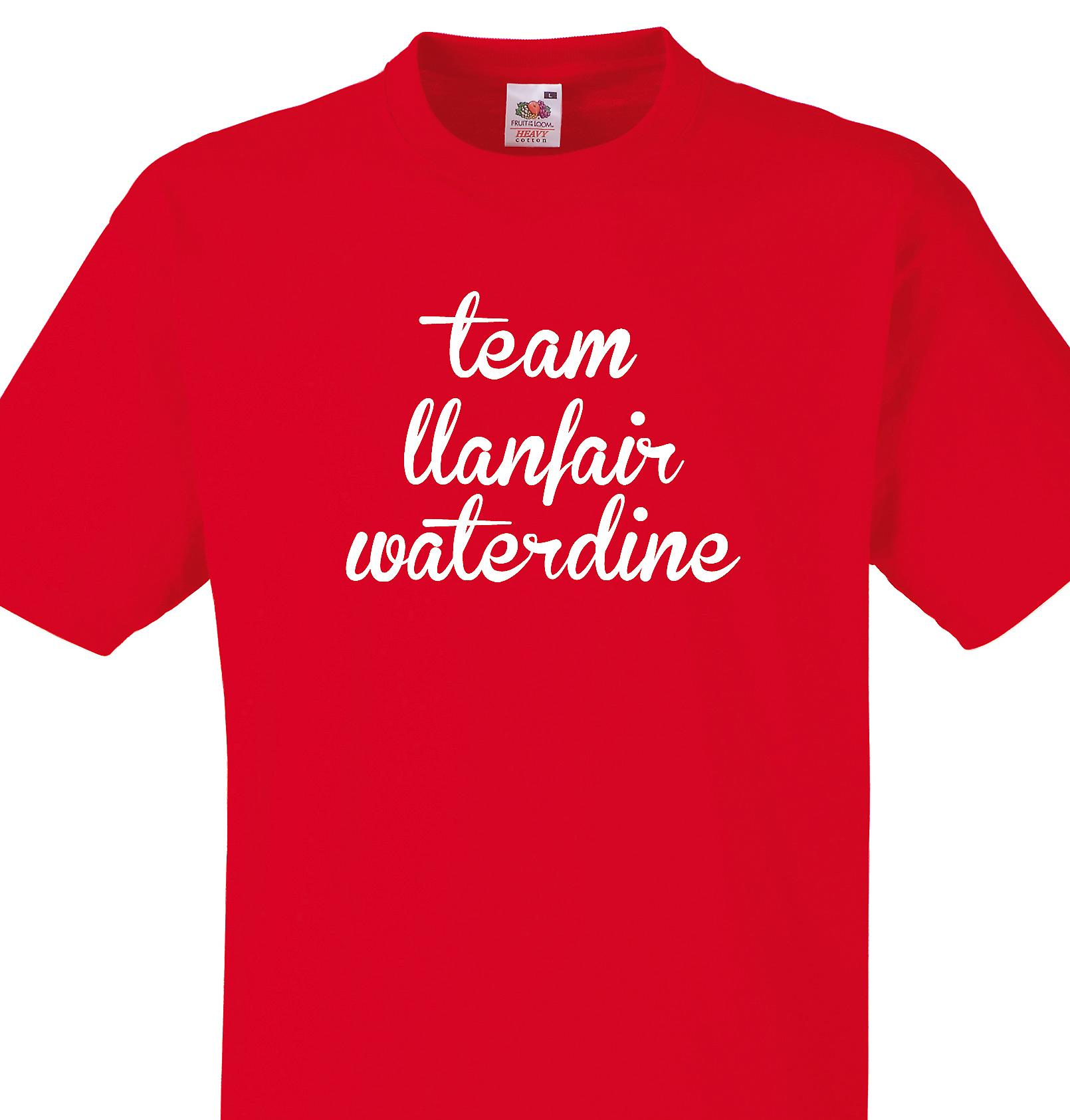 Team Llanfair waterdine Red T shirt