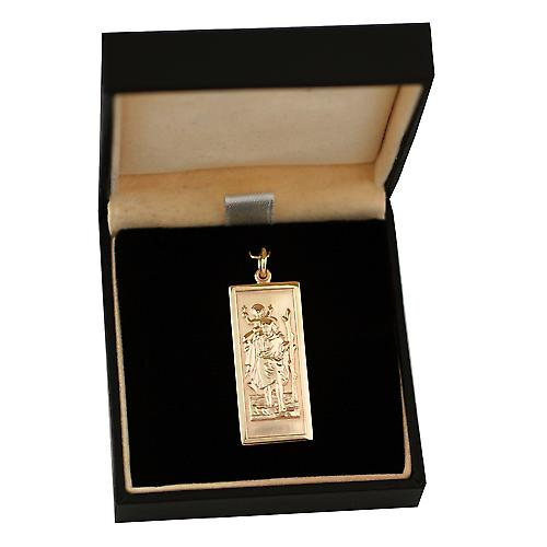9ct Gold 35x15mm rectangular St Christopher
