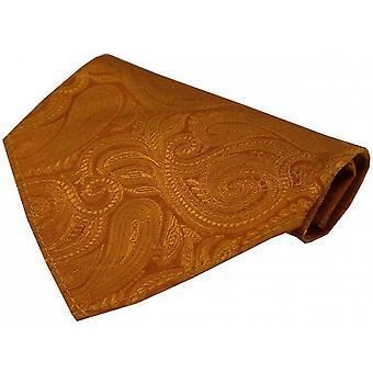 David Van Hagen luksushoteller Paisley silke tørklæde - Orange