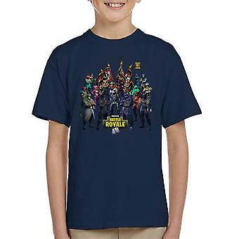 Fortnite Battle Royale Flags Kid's T-Shirt