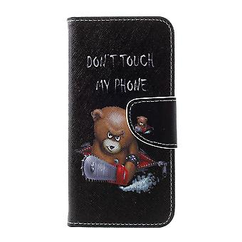 Samsung Galaxy S10 Geldbörse Beutel-Angry Bear und Worte der Warnung