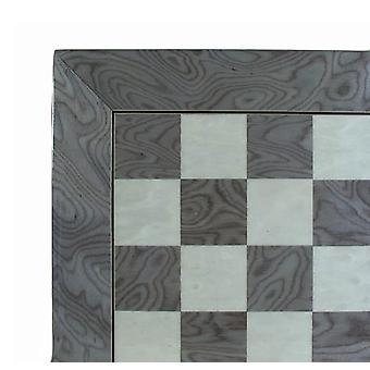 22 Inch Gray & Ivory Glossy Chess Board