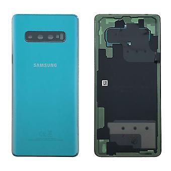 Samsung GH82-18406E batteri cover cover til Galaxy S10 plus G975F + lim pad grønne prisme grønne nye