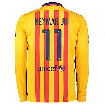 2015-2016 Barcelone manches longues maillot (Neymar Jr 11)