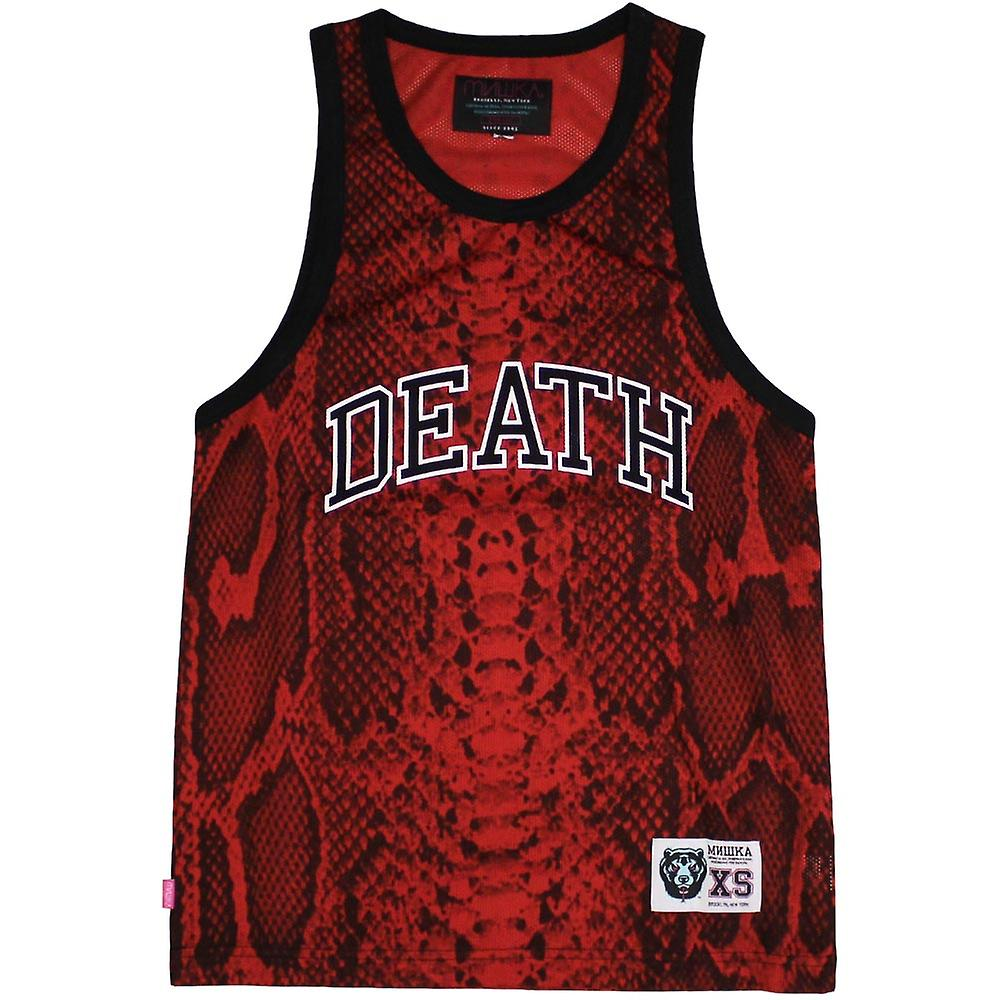 Mishka Snake Bite Boa Tank Top Vest Red