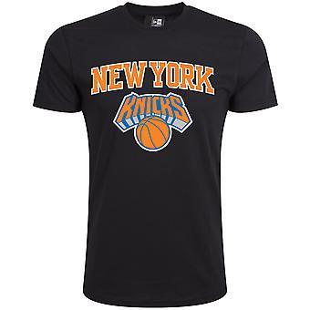 New Era Basic Shirt - NBA New York Knicks schwarz