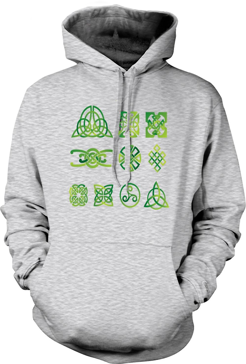 Mens Hoodie - Celtic Tribal Tattoo Designs